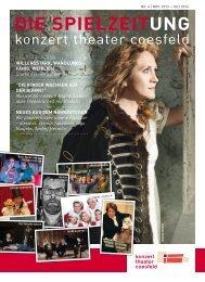 Spielzeitung No.4 /Nov 2013 - konzert theater Coesfeld