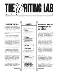 27.7 - The Writing Lab Newsletter