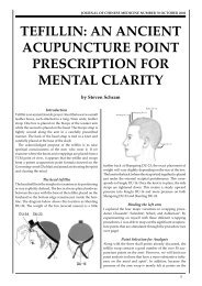 tefillin: an ancient acupuncture point prescription for ... - Kosher Torah