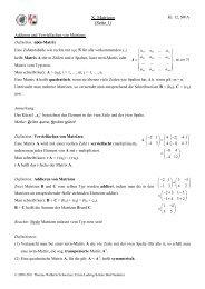 X. Matrizen (Seite 1) - Heimatseite von Thomas Wilhelm Schwarzer