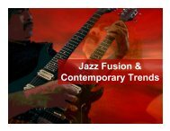 Jazz Fusion & Contemporary Trends - band4me