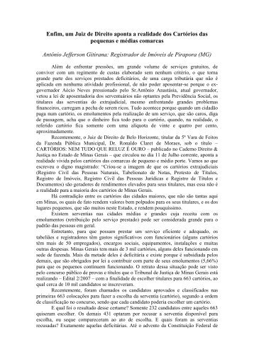 Por Antônio Jefferson Gitirana - Recivil