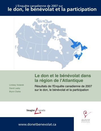 Le don et le bénévolat dans la région de l'Atlantique - Imagine Canada