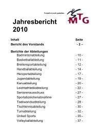 Jahresbericht 2010 (128 KB) - MTG Horst