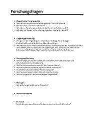 Forschungsfragen - Palliative ch