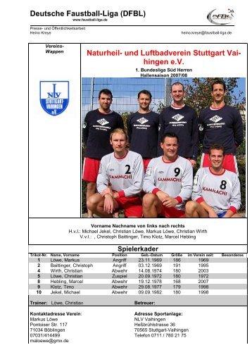 Deutsche Faustball-Liga (DFBL) Naturheil- und Luftbadverein ...
