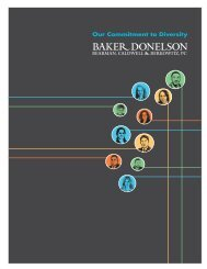 Our Commitment to Diversity - Baker Donelson