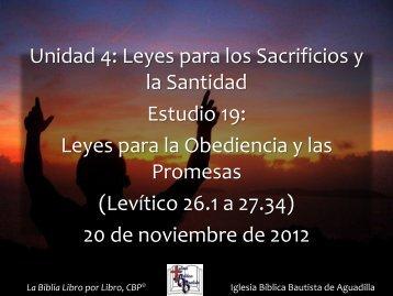 Levítico 26.1 a 27.34 - Iglesia Biblica Bautista de Aguadilla, Puerto ...
