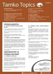 opiskelijakunta ainejärjestöt ja opiskelijaelämä - Tamko