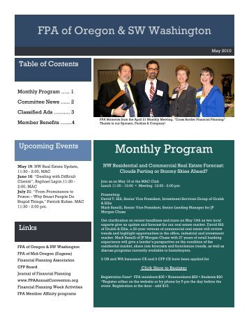 Monthly Program - The Financial Planning Association of Oregon ...