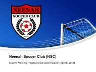 The 2013 NSC Recreational Soccer Presentation - Paper Valley ...