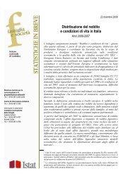 Distribuzione del reddito e condizioni di vita in Italia - Istat