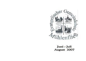 Verabschiedung Pfr. Dr. Schlemmer - Mühlenfließ