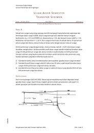Penyelesaian Soal UAS Transpor Sedimen 2011 - istiarto ...