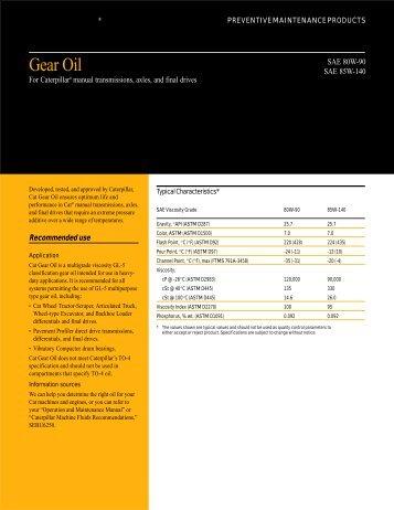 Gear Oil - Peterson CAT