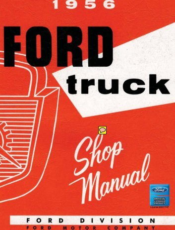 DEMO - 1956 Ford Truck Shop Manual - ForelPublishing.com