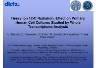 Heavy Ion 12-C Radiation: Effect on Primary Human ... - Wcenter.de