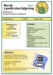 Medlemsblad mars - Norsk Landbruksrådgiving Agder