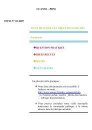 INFO PRATIQUES 03.2007 bis - Ucanss
