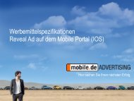 Mobile Reveal Ad - mobile.de Advertising