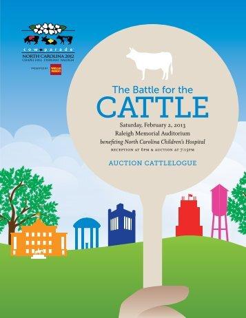 Preview our Auction Cattlelogue - CowParade North Carolina 2012