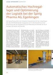 Automatisches Hochregal- lager und Optimierung der Logistik bei ...
