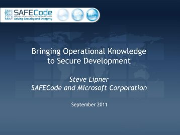 SAFECode - Build Security In