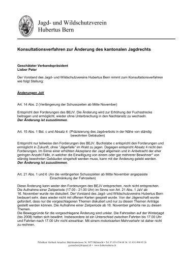 Jagd- und Wildschutzverein Hubertus Bern