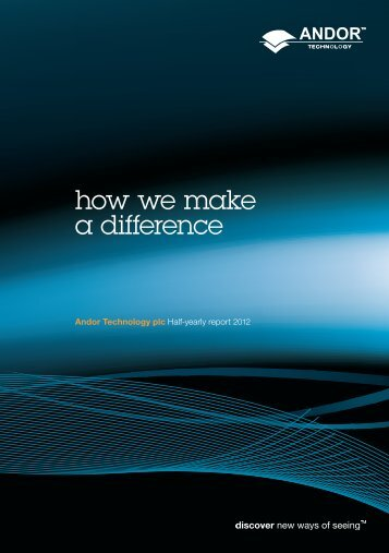 how we make a difference - Andor Technology