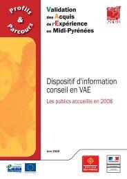 Télécharger Profils et parcours Information conseil en VAE