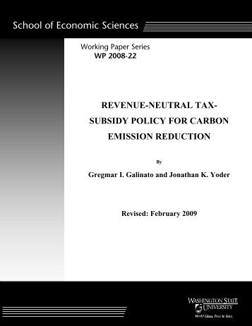Revenue-Neutral Tax-Subsidy Policy for Carbon Emission Reduction