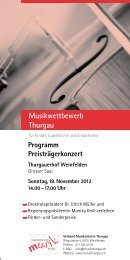 Musikwettbewerb Thurgau - Musikschulen Thurgau