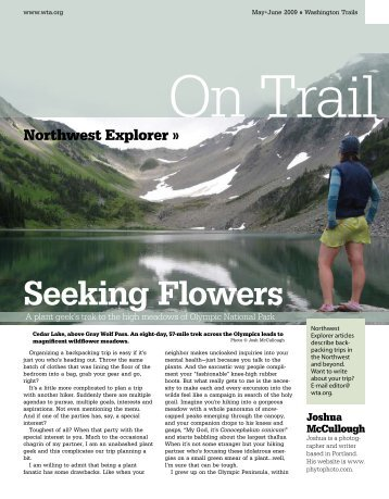 Seeking Flowers - Washington Trails Association