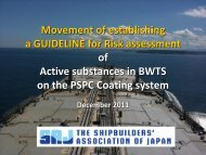 Active substances of BWTS - ASEF - Asian Shipbuilding Experts