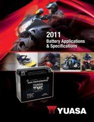 Battery Applications & Specifications - Biker Info Site