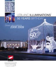 LEBLANC ILLUMINATIONS 50 YEARS BIRTHDAY - CITY ...