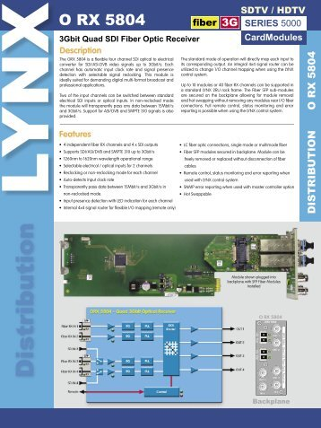 3Gbit Quad SDI Fiber Optic Receiver - LYNX Technik AG