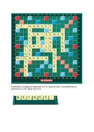 Scrabble© is a registered trademark of J.W. Spear & Sons ... - Die Zeit
