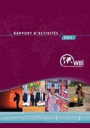Rapport d'activités 2011 - WBI