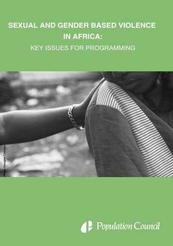 Key Issues for Programming - Sexual Violence Research Initiative