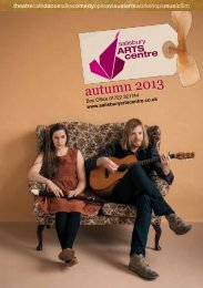 autumn 2013 - Salisbury Arts Centre