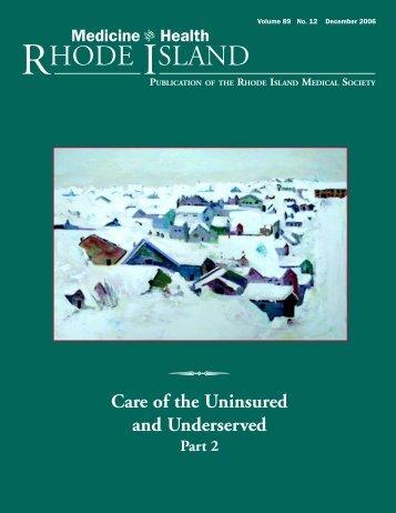 December, No.12 - Rhode Island Medical Society