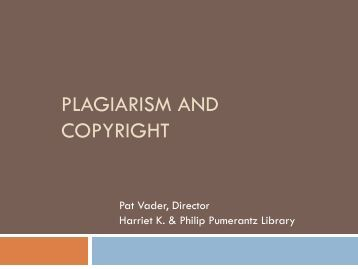 plagiarism and copyright - Western University of Health Sciences