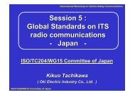 Session 5 : Global Standards on ITS radio communications - Japan -