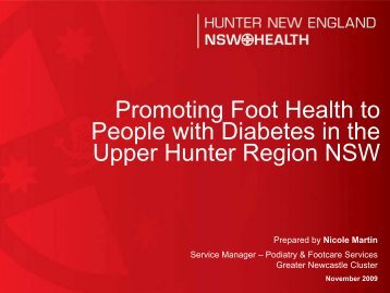Promoting Foot Health to People with Diabetes in the Upper Hunter ...