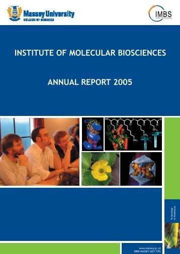 Annual Report - Allan Wilson Centre