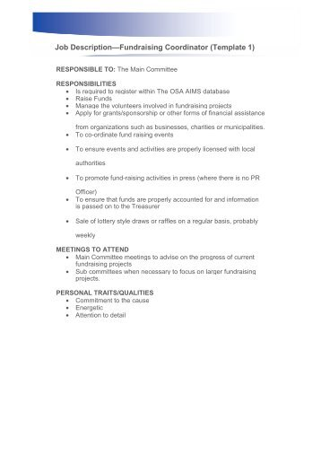 Job Description Program Coordinator One By One Seattle, Wa