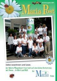 Nächste Ausgabe: Winter 09/10 - Maria Pflegedienst