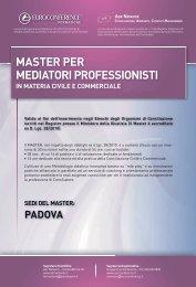 master per mediatori professionisti - Centro Studi Lavoro e Previdenza