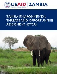 zambia environmental threats and opportunities assessment (etoa)